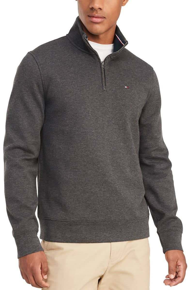 Tommy Hilfiger Men's French Rib Quarter-Zip Pullover $34.99