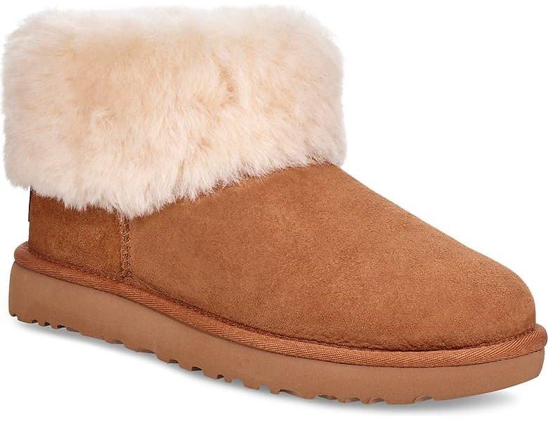 UGG® Classic Mini Fluff Genuine Shearling Bootie (Women) $89.90 + fs