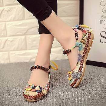 Stylish Embroidered Ballet Sandals Shoes Flats - BEIGE 7(US) $17.23 + ship