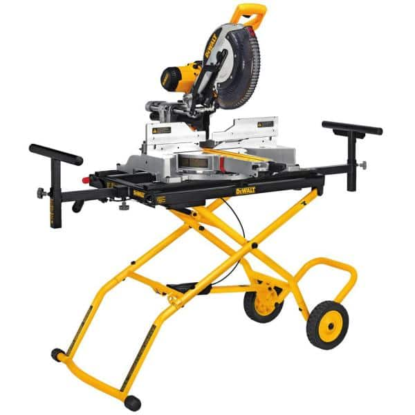 Dewalt 15 Amp 12 in. Double-Bevel Sliding Compound Miter Saw # DWS779. + rolling stand # DWX726 for $399...