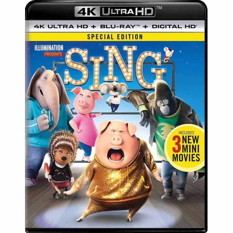 Sing (2016) [4K UHD] [Blu-Ray] [Digital HD] & The Boss Baby [4K UHD] [Blu-Ray] [Digital HD] $9.99 Each w/ Fry's Promo Code