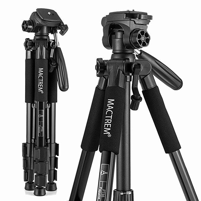 Mactrem PT55 Travel Camera Tripod Lightweight Aluminum with Carry Bag for $28.5 @Amazon