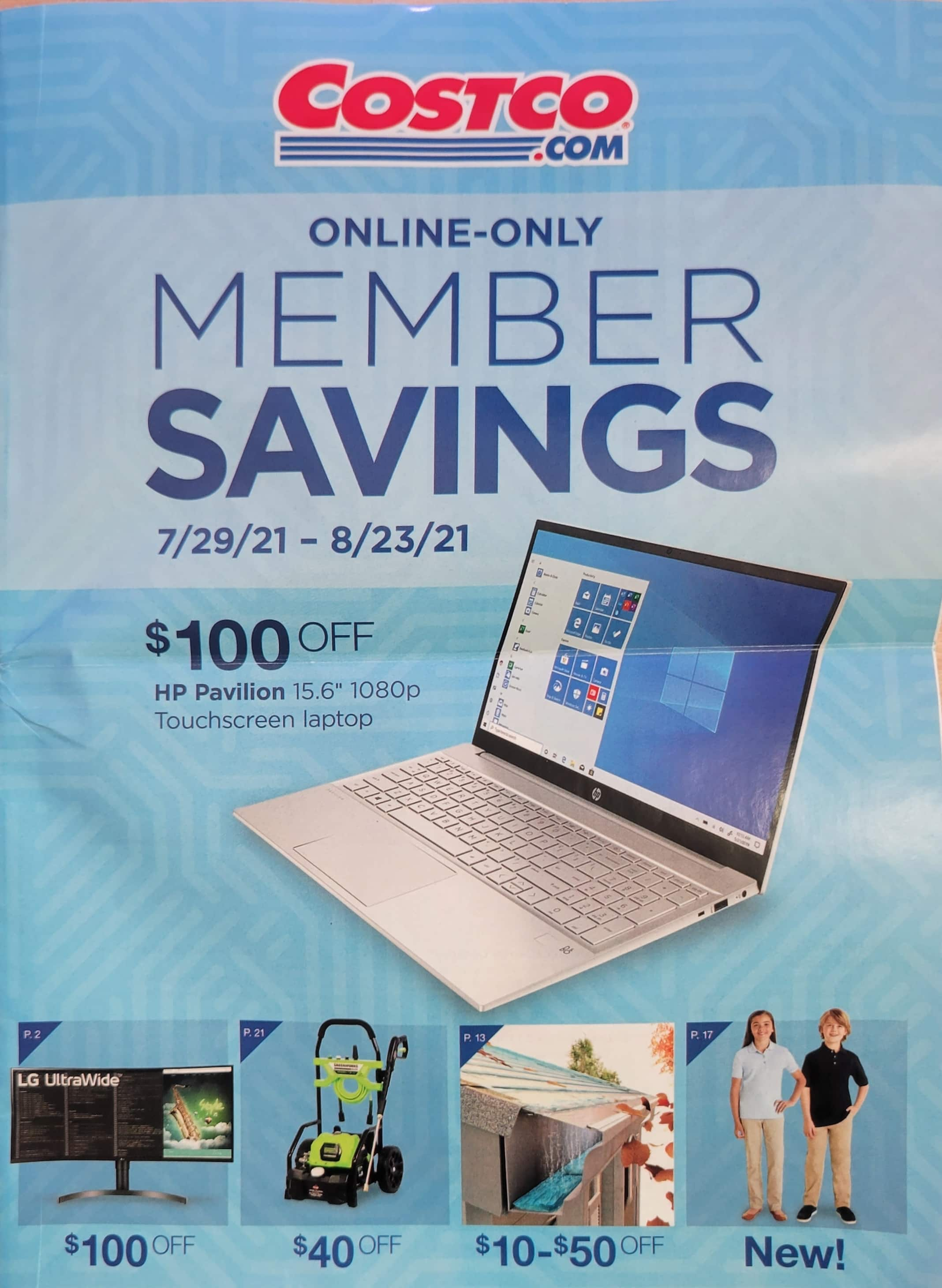 Costco Member Savings (Online Only) 07/29-08/23