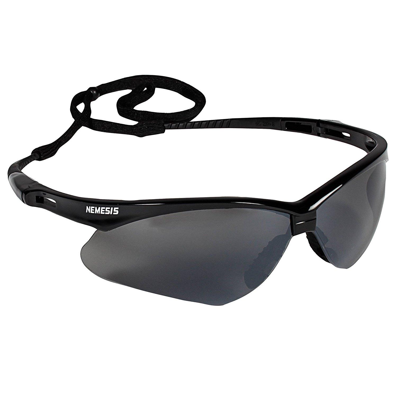Jackson Safety V30 Nemesis Safety Glasses (25688), Smoke Mirror with Black Frame, 12 Pairs/Case   $33.39