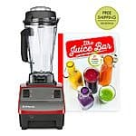 Vitamix Red Reconditioned Two-Speed Blender & The Juice Bar Hardcover - $264.99