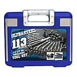 Ultra Steel 113-pc Mechanics Tool Set - $19.97