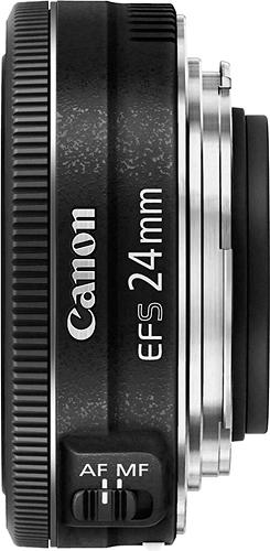 Canon - EF-S 24mm f/2.8 STM Standard Lens for Canon APS-C Cameras - Black $99.99