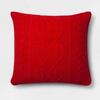 Cable Knit Chenille Throw Pillow - Threshold $17.99+FS