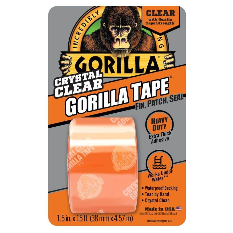 Gorilla Clear Repair 1.5-in x 15-ft Clear Heavy Duty Duct Tape - $1.24 CLEARANCE! - YMMV Lowes Free store pickup