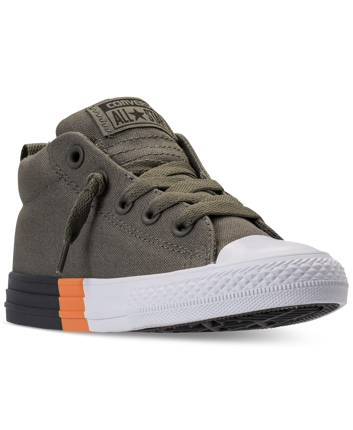 Chuck Taylor All Star Street Mid Casual Sneakers, $25 (reg. $50) and more Chuck Taylor Sneakers with Various Sizes and Colors all below $40