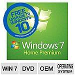 Microsoft Windows 7 Home Premium 64-Bit OEM OS DVD $69.99 w/FS