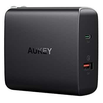 Aukey 48W USB-C Charger: 30W Power Delivery 3.0 USB-C & 18W Quick Charge 3.0 USB-A $24.89 AC + Free Shipping