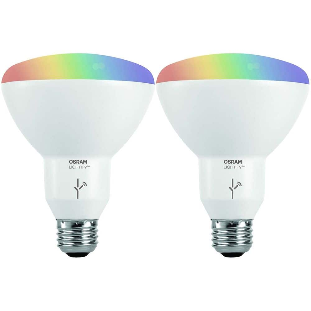 Sylvania Osram Lightify Full Spectrum Color Wireless LED Light Bulb 2-Packs: A19, 60W Eqiv. $39.99 or BR30, 65W Equiv. $31.19 + Free Shipping