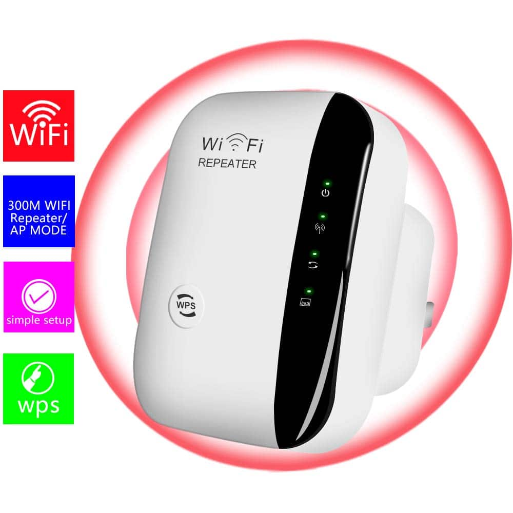 USBNOVEL N300 WiFi Range Extender $16.89 @Amazon