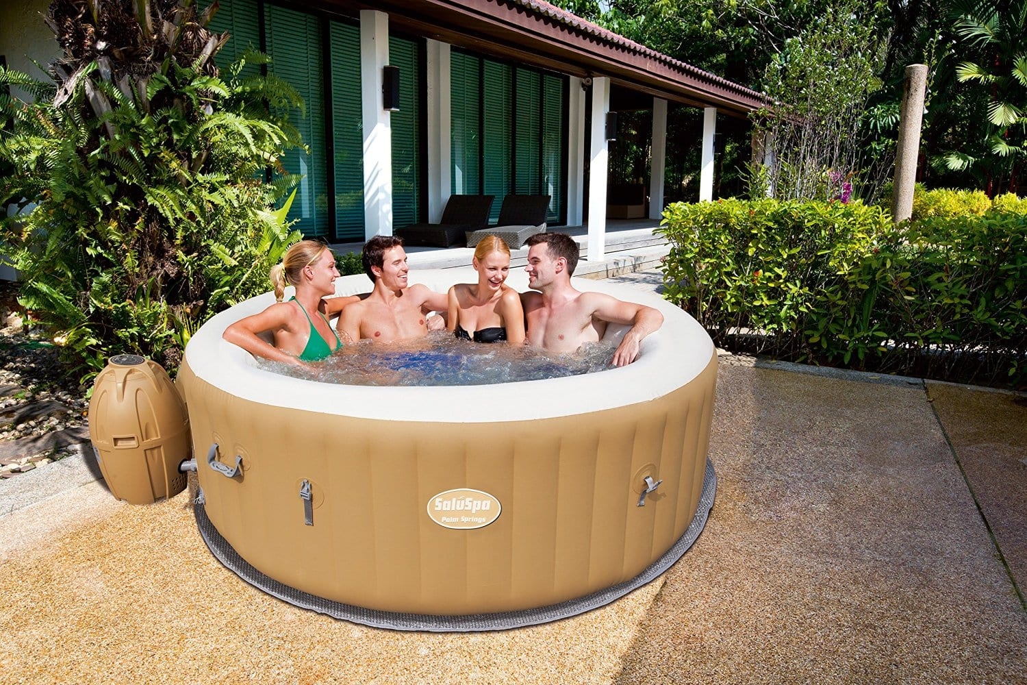 """Inflatable Hot Tub - """"6 person"""" Lowest price of 2016 - Amazon $356.73+tax SaluSpa / Bestway / Intex Palm Springs"""