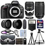 Nikon D5200 w/ 18-55mm + 70-300mm lenses + accessories bundle for $609.95 (4x Ebay bucks YMMY)