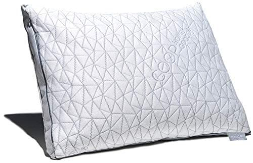 Coop Home Goods - Eden Shredded Memory Foam Pillow with Cooling Zippered Cover and Adjustable Hypoallergenic Gel Infused Memory Foam Fill - Queen