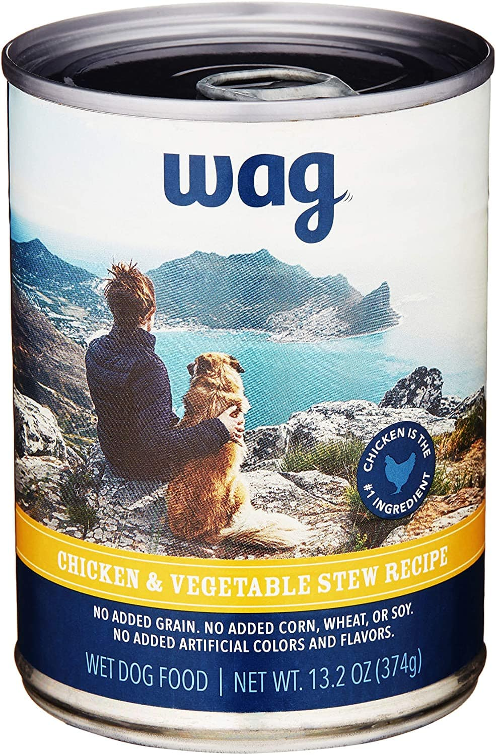Amazon Brand - Wag Wet Canned Dog Food Chicken & Vegetable (Stew), 12 Pack $12