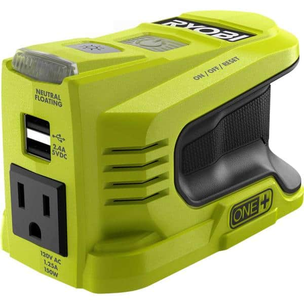 Home Depot - Ryobi Battery Powered Inverter - 150 watt for 18v Battery $60. 300 watt for 40v Battery $80. Free shipping