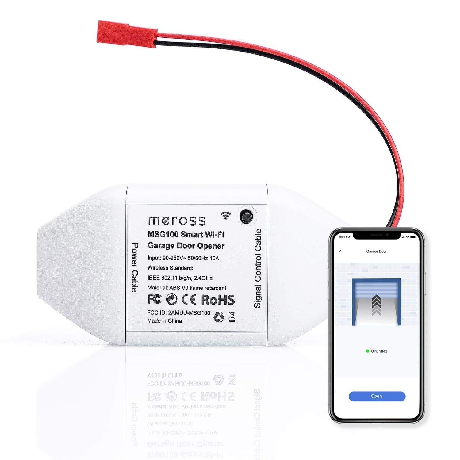 Meross Smart Wi-Fi Garage Door Opener Remote w/ App Control