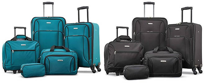 American Tourister Five-Piece Spinner Luggage Set $65
