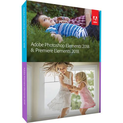 Adobe Photoshop Elements 2018 & Premiere Elements 2018 Bundle (DVD or Download) $89.99