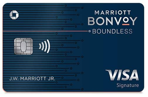 Chase Marriott Bonvoy Boundless™ Credit Card - Spend $5000 in first 3 months and earn 5 free nights worth up to 250,000 points