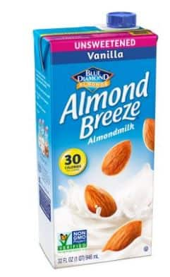 $1.37 for Blue Diamond Almond Breeze Unsweetened Almond Milk, Vanilla 32 oz on Walmart.com