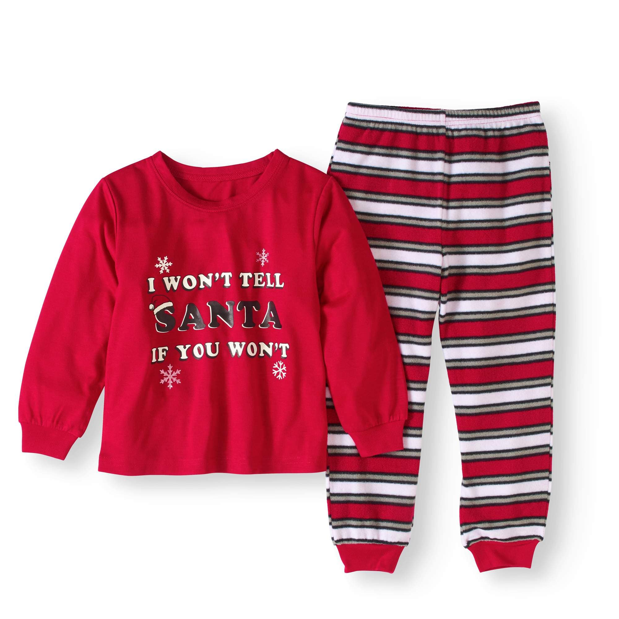 813900d35 2-Piece Baby Toddler Unisex Holiday Naughty or Nice Pajama Set ...