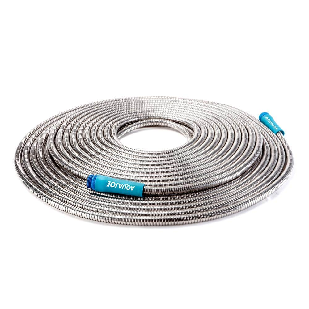 "Sun Joe 1/2"" Dia  Heavy-Duty Stainless Steel Garden Hose 100 ft $40 @ Home Depot & Target"
