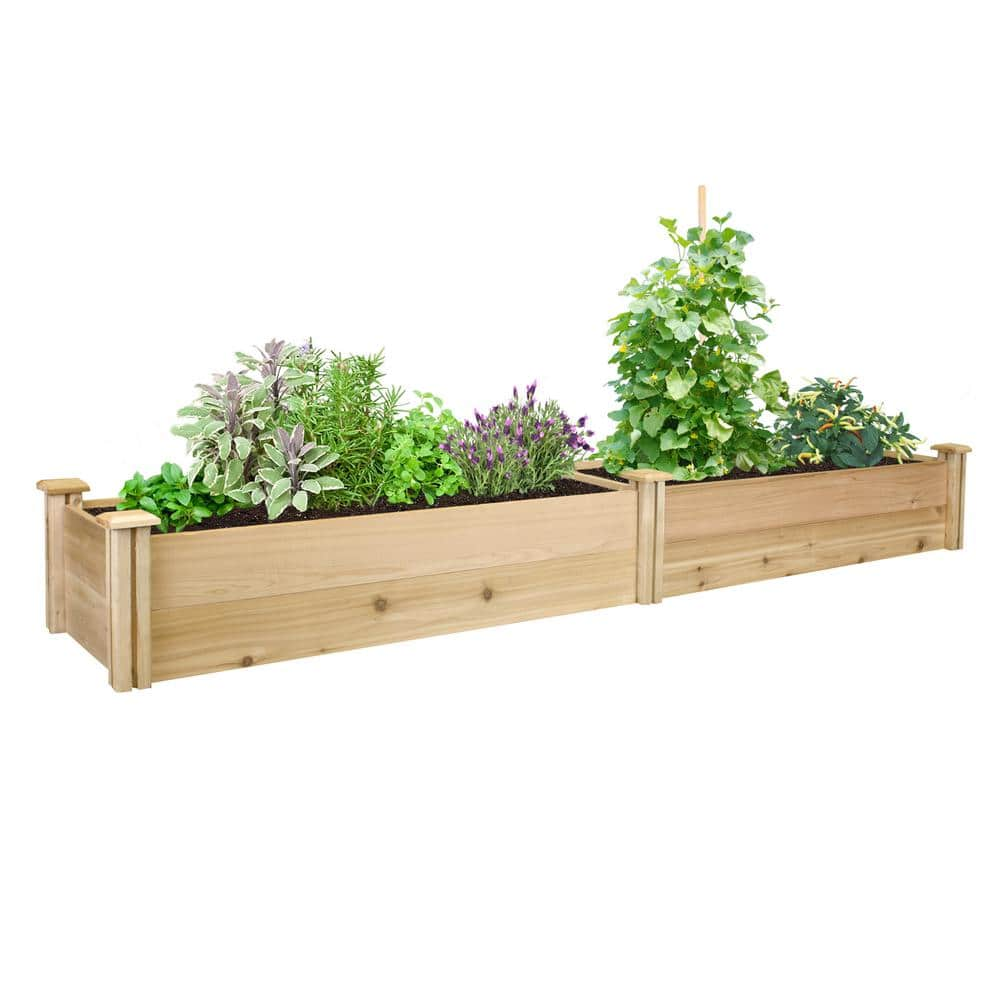 Greenes Fence 16 in x 8 ft x 11 in Raised Garden Bed $80 @ Home Depot