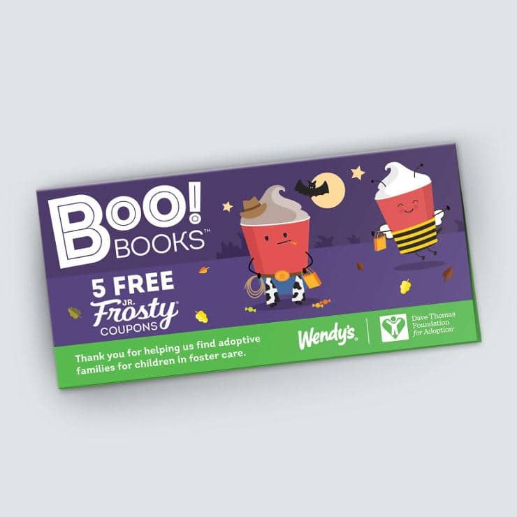 Boo! Books - 5 Jr. Frosty® coupons $1 @ Wendys