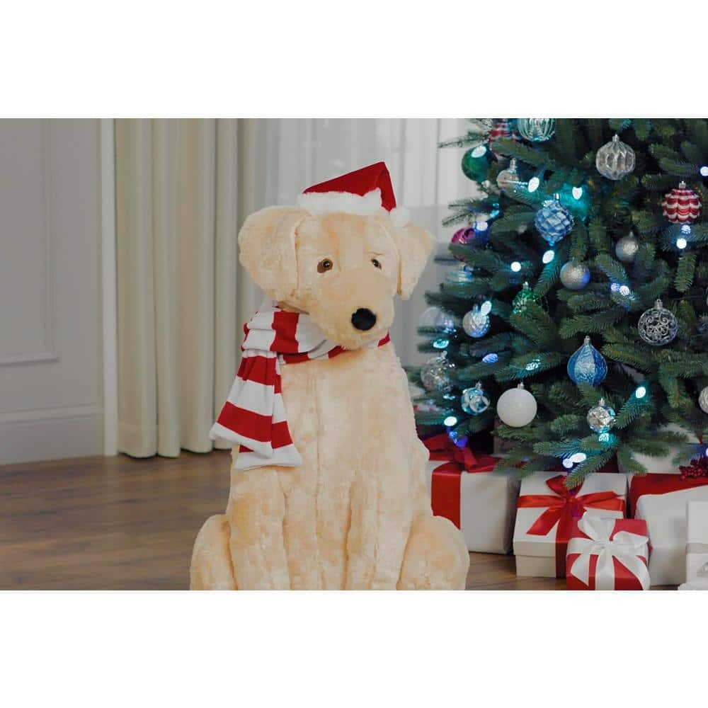 34 in. Christmas Animated Golden Retriever $37 @ Home Depot online
