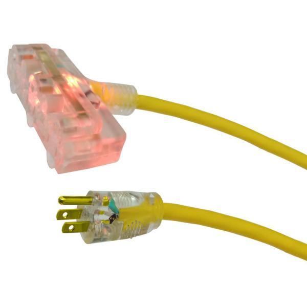 50 foot Husky 12/3 lighted triple tap extension cord $15 - $20 @ Home Depot (b&m ymmv)
