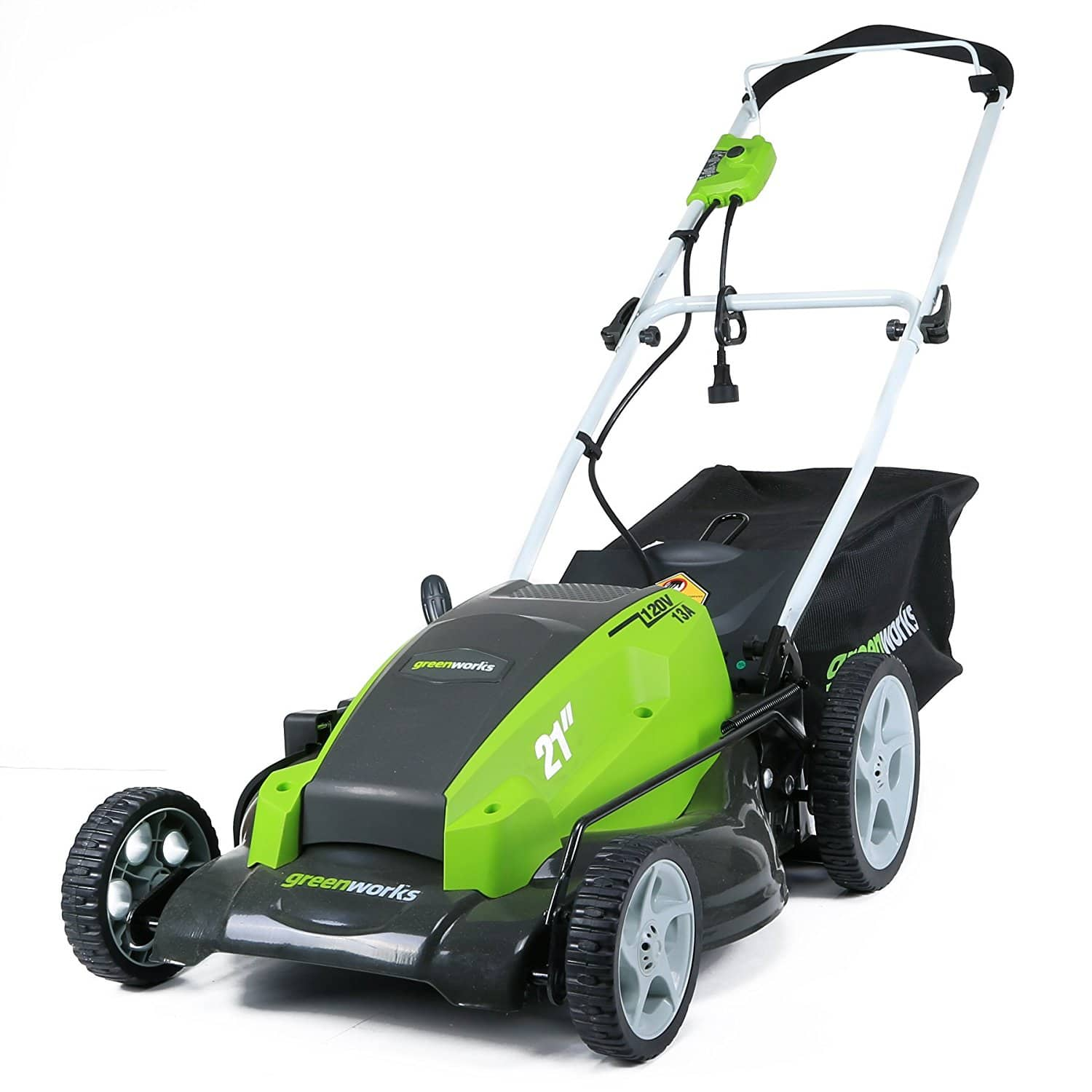 "GreenWorks 13 Amp 21"" Corded Lawn Mower Slickdeals"