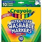 Crayola Ultraclean Washable Markers 10ct @ $1.97 - Walmart - Free Pickup at store