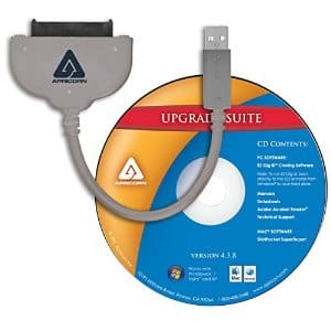 Apricorn SATA Wire Notebook Hard Drive Upgrade Kit with USB 3.0 Connection ASW-USB3-25 (Grey) $10.25 AR