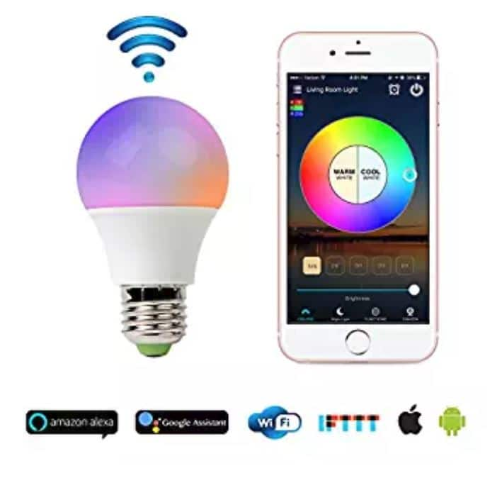 Smart WiFi Light Bulb (works with Alexa) - $12.05 + FS w/ Prime