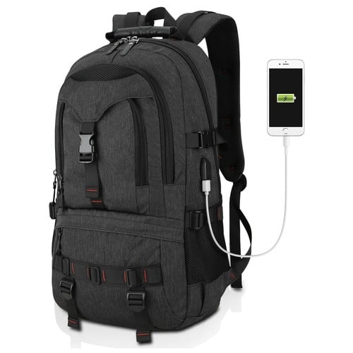 Tocode Water Resistant Laptop Backpack with USB Charging Port Fits up to 17-Inch Laptop Black [Black] $19.60 @Amazon