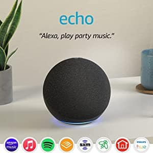 Two Echo (4th Gen)   With premium sound, smart home hub, and Alexa $119.98