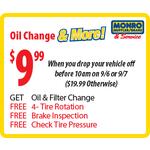 Monro Muffler - $9.99 Oil Change