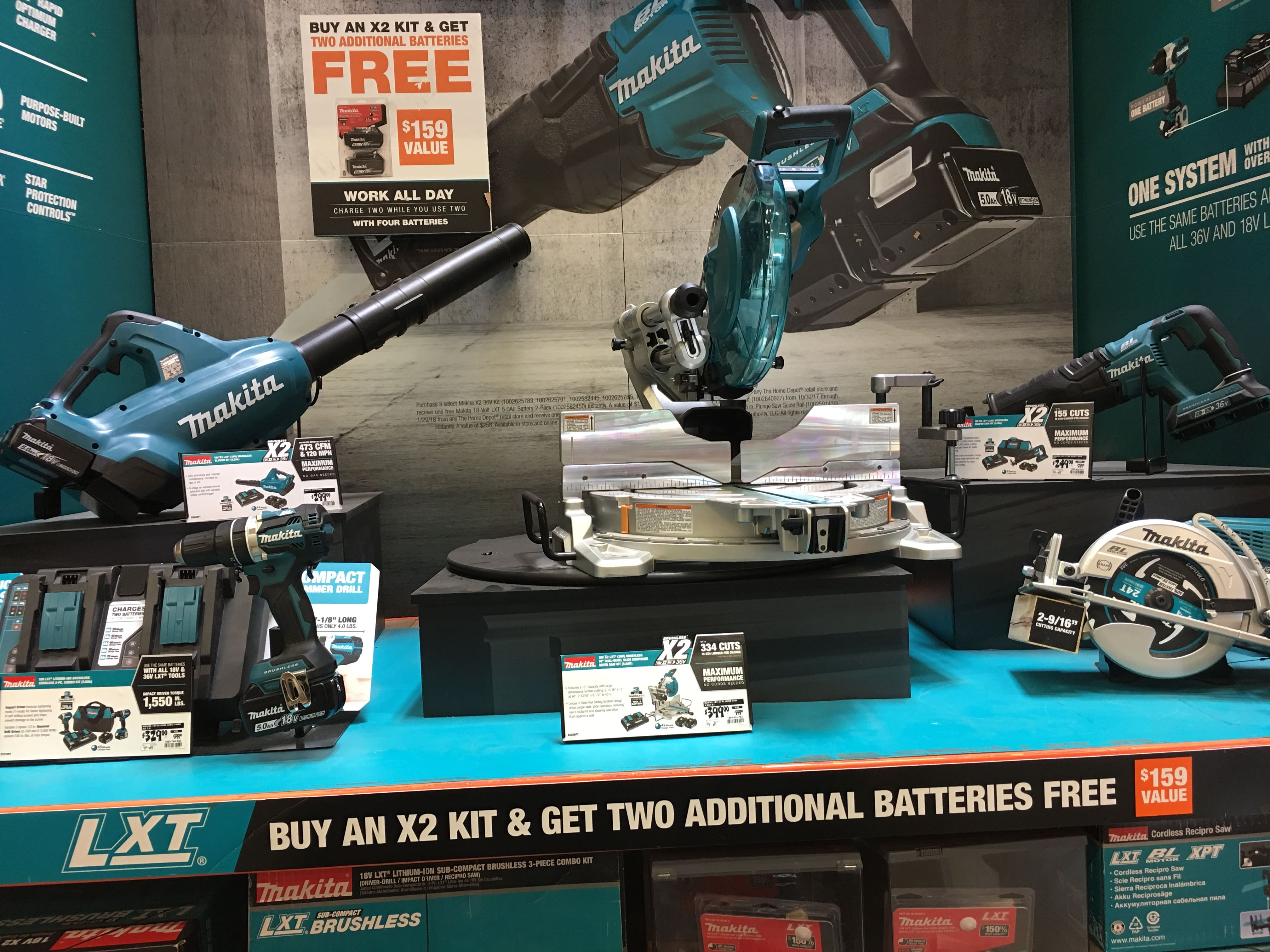 Makita 4 battery bos