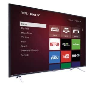 Amazon - TCL 55FS3850 55-Inch 1080p Roku Smart LED TV (2015 Model) - $348
