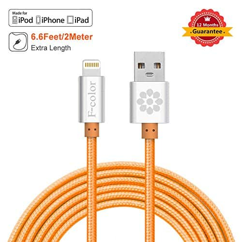 F-color 6ft Heavy Duty Braided iPhone Charging Cable for $9.99 Amazon Prime Shipping After Coupon