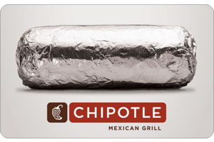 $50 Chipotle Gift Card $42.5 - eMail Delivery @Cashstar
