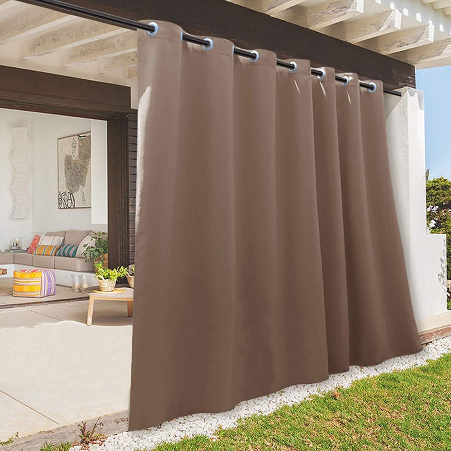 Prime Members: 100 x 108 inch. RYB HOME Outdoor Gazebo Curtains, Waterproof Weather Resistant $5.69