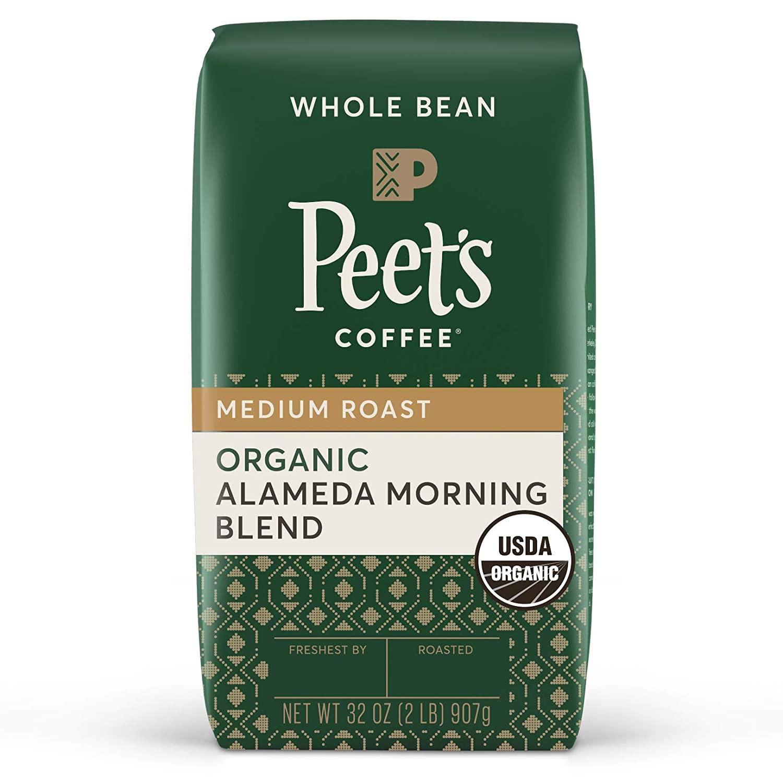 32-Oz Peet's Coffee Alameda Morning Blend, Medium Roast Whole Bean Coffee $9.70