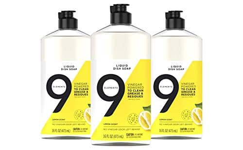 3-Pack 16-Oz 9 Elements Dishwashing Liquid Dish Soap, Lemon Scent $4.33 or less w/ S&S & More