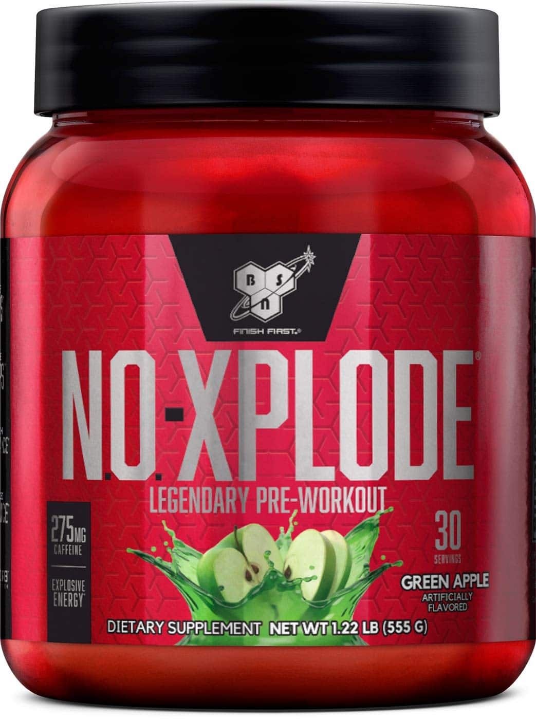 BSN N.O.-XPLODE Pre-Workout Supplement With Creatine, Green Apple 30 Servings as low as $12.12 w/S&S + FS