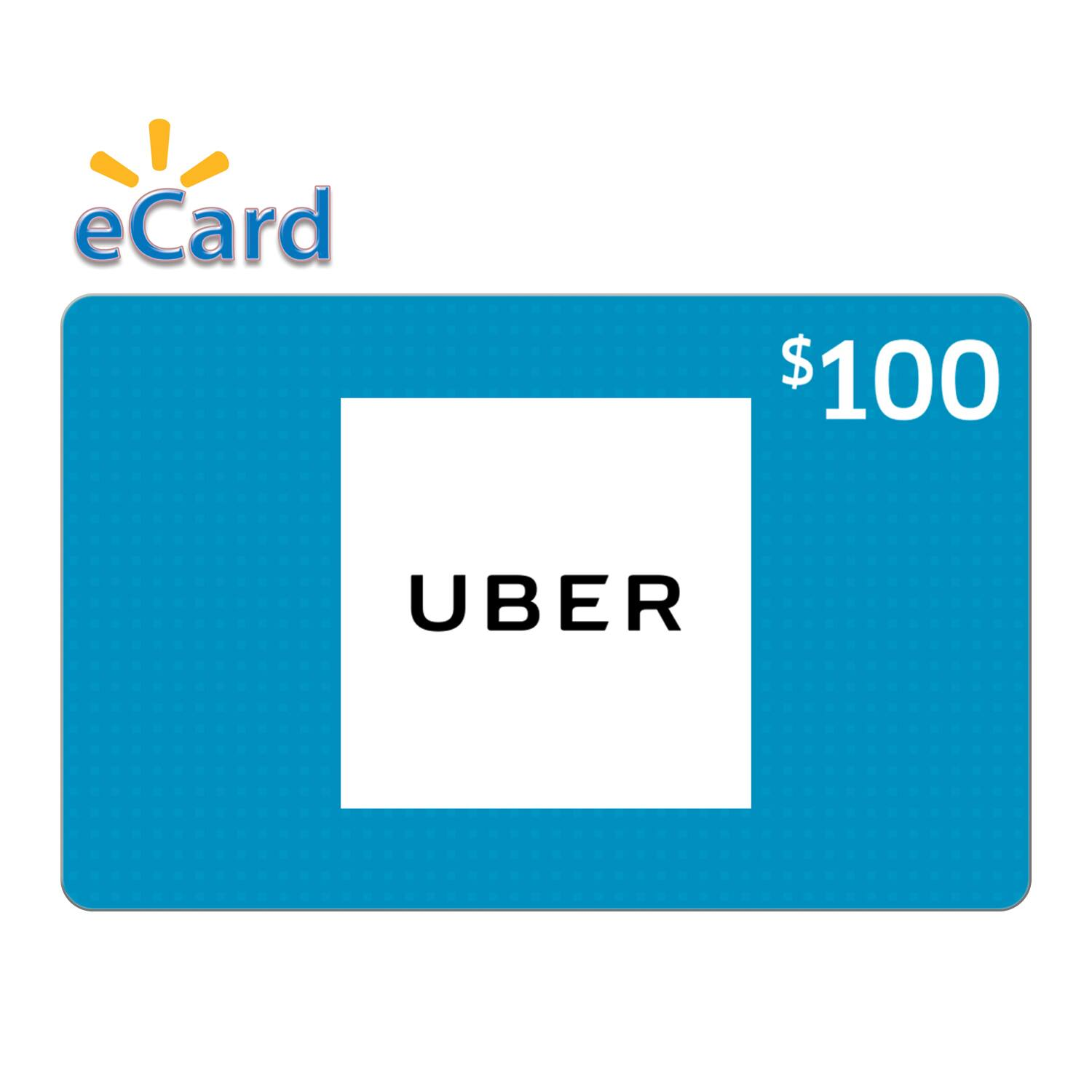 Uber Gift Cards (email Delivery): $100 for $90, $50 for $45, $25 for $22.5 @Walmart